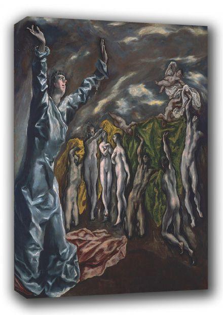 El Greco (Domenico Theotocopuli): Opening of the Fifth Seal. Fine Art Canvas. Sizes: A3/A2/A1. (00588)
